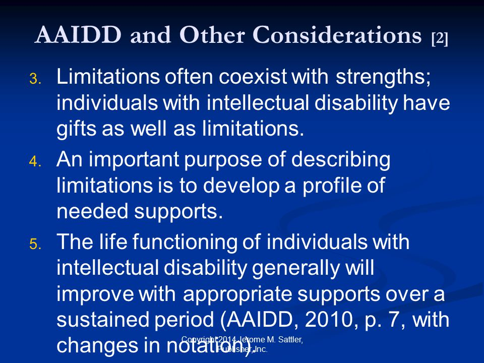 AAIDD and Other Considerations [2]